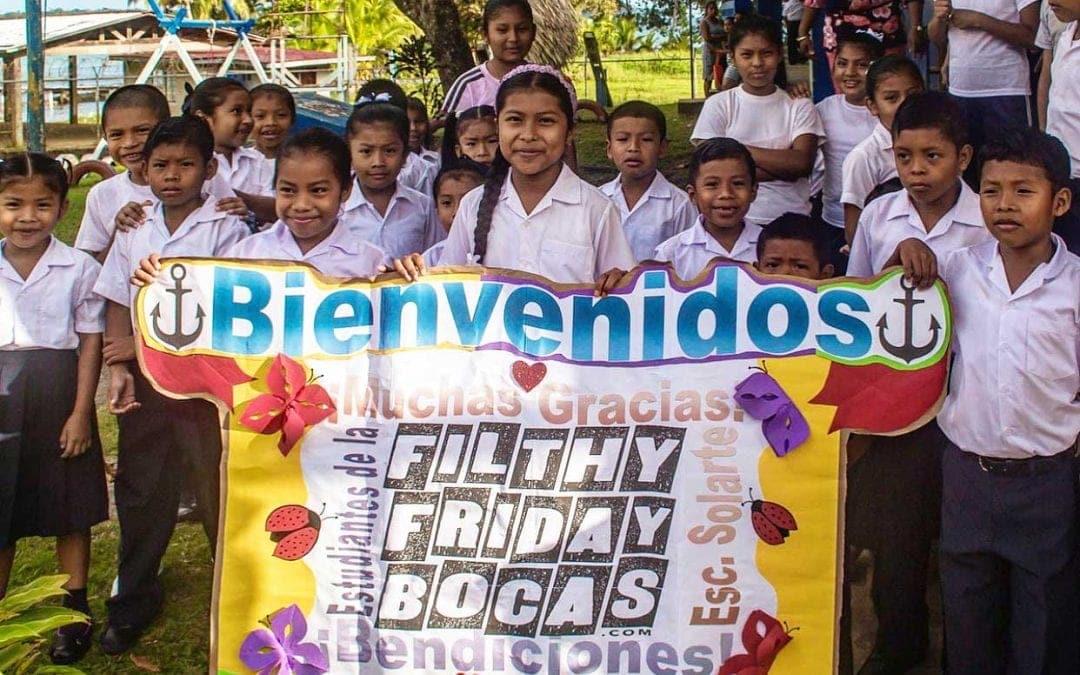 Filthy Friday Sponsors the Schoolchildren of Solarte Island